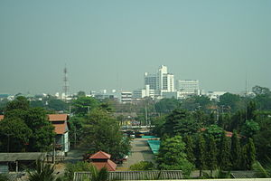 Phitsanulok - Phitsanulok skyline from the Grand Riverside Hotel