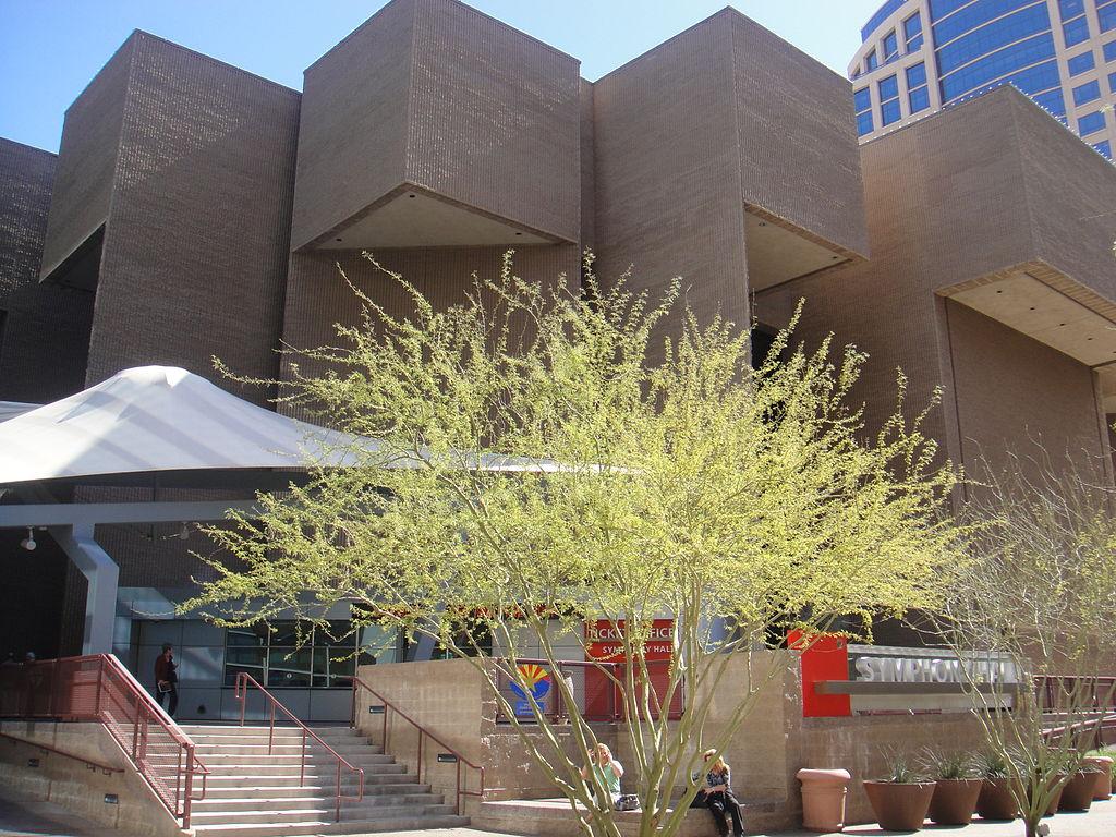 Phoenix Symphony Hall - West Entrance - 2010-02-16