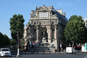 Gabriel Davioud - The Fontaine Saint-Michel in Paris, designed by Davioud, 1855-60.