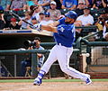 Photo of the Day Project, March 11, 2016- Kendrys Morales swings at a pitch (25594758412).jpg