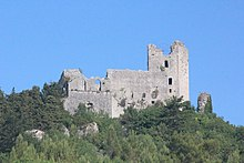 Vista dei resti della Rocca