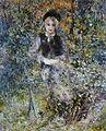 Pierre-Auguste Renoir -Jeune Fille sur un banc.jpg