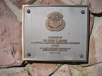 United States Army Pikes Peak Research Laboratory - Image: Pikes Peak Army Research Laboratory Plaque
