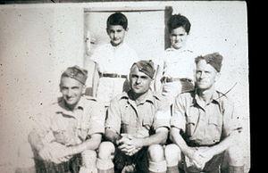 Yitzhak Ben-Aharon - Yitzhak ben Aharon and other members of Kibbutz Givat Haim Meuchad, as British soldiers (between 1940 and 1946)