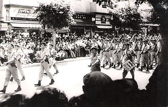 Israel Defense Forces parade - Israeli Independence Day military parade in 1956