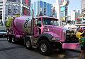 Pink Cement mixer truck in Canada.jpg