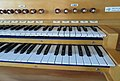 Pipe organ Chiesa Evangelica Riformata Muralto Switzerland Manual Detail 02.jpg