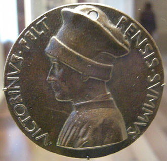 Vittorino da Feltre - Pisanello, medallion of Vittorino da Feltre, recto, c.1446.