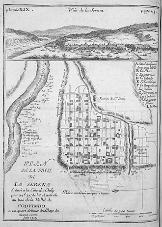 La Serena, Chile - Map of the city in 1717.