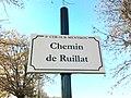 Plaque Chemin Ruillat St Cyr Menthon 2011-11-23.jpg