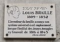 Plaque Louis Braille, 2 rue des Écoles, Paris 5e.jpg