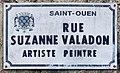Plaque Rue Suzanne Valadon - Saint-Ouen-sur-Seine (FR93) - 2021-05-20 - 1.jpg