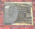 Plaque on wall of Leeds Industrial Co-operative Society Ltd Laundry - Gelderd Road - geograph.org.uk - 780741.jpg