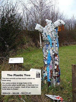 English: Plastic Tree at Tyland Barn. This tre...