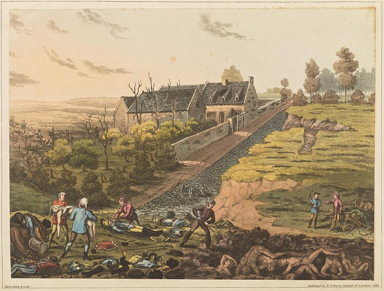 Fichier:Plate L from 'An Historical Account of the Campaign in the Netherlands' by William Mudford (1817).jpg