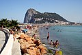 Playa de Poniente (La Línea de la Concepción) with the Rock of Gibraltar in the background.jpg