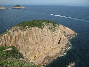Sai Kung District - Po Pin Chau, a stack island near the High Island Reservoir East Dam