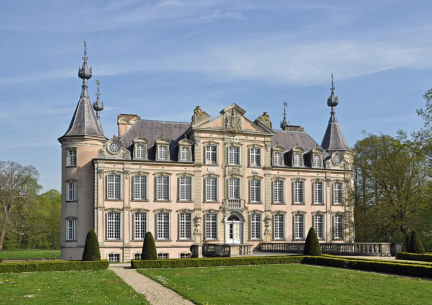 English:  The Poeke Castle (Aalter, East Flanders, Belgium)