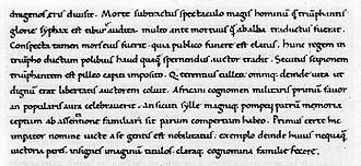 Poggio Bracciolini - a sample of Poggio's handwriting