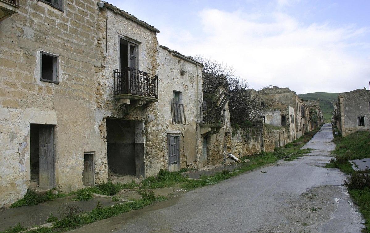 Terremoto del belice del 1968 wikipedia for Disegni di case abbandonate