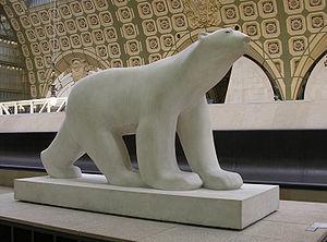 François Pompon - L'Ours Blanc (the White bear) — sculpture by François Pompon