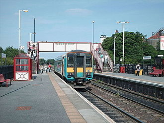 Pontefract Monkhill railway station - A Class 153 unit at platform 2