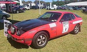Round Australia Trial - The Porsche 924 in which Jürgen Barth and Roland Kushmaul placed ninth outright and won their class in the 1979 Repco Reliability Trial