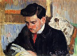 Portrait of Rodo Pissarro reading.jpg