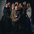 Portrait photoshoot at Worldcon 75, Helsinki, before the Hugo Awards – sound folks.jpg