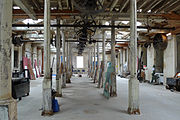 The Portsmouth Block Mills showing remaining overhead belt drive system.