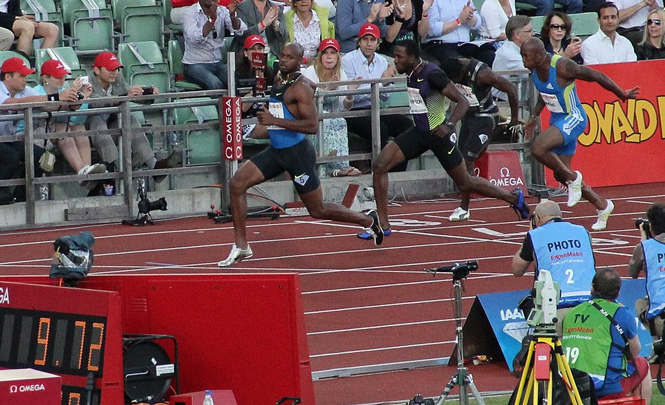 Powell 2010-06-04 Bislett Games 100 m 9,72