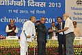 Pranab Mukherjee presenting the National Award for the year 2013 to Indian Veterinary Research Institute (IVRI) Izatnagar.jpg
