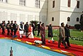 Pratibha Devisingh Patil being led in a ceremonial procession to the Central Hall of Parliament House to address the Members of both the Houses of Parliament on Budget Session, in New Delhi on February 22, 2010 (1).jpg