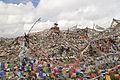 Prayer flags (lots of them) at the Khardung La (10001182746).jpg