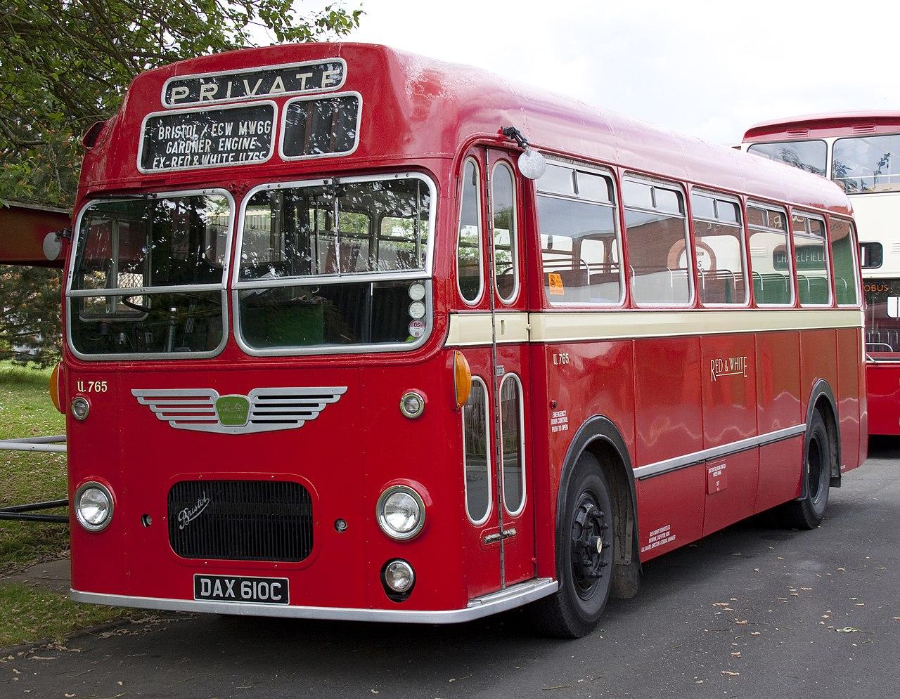 File Preserved Red  U0026 White Bus U164  Dax 601c  Bristol Mw Ecw  11 May 2011 Jpg