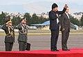 Presidente boliviano, Evo Morales visita a Gobierno Nacional. Canciller Patiño recibe en base aérea (5079403446).jpg