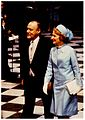 Prime Minister Robert Muldoon and his wife Thea attending the royal wedding, 1981 (28335997832).jpg