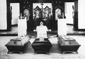 Grand Duke Sergei Mikhailovich of Russia - Tombs of Prince Ioann Konstantinovich, Grand Duke Sergei Mikhailovich and Prince Konstantin Konstantinovich at the crypt of All Holy Martyrs Church (Beijing) c 1938-1947