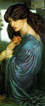 Dante Gabriel Rossetti, Proserpina (1874), olio su tela, 125,1×61 cm, Tate Britain, Londra