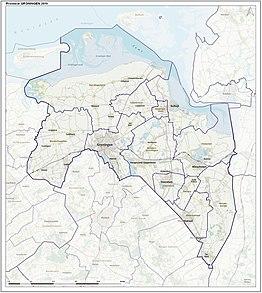 Kaart provincie Groningen