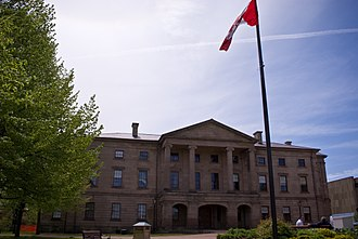 Charlottetown - Province House is houses the Legislative Assembly of Prince Edward Island and was the location for the Charlottetown Conference.