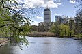 Prudential Tower through the Back Bay Fens, May 2014.jpg