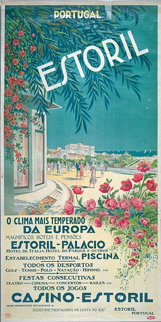 Portuguese Riviera - An advertisement for Estoril and its amenities; first half of the 20th century.