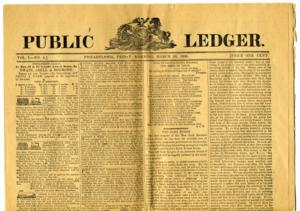 Public Ledger (Philadelphia) - Image: Publicledger