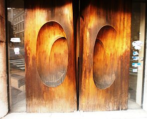 Puertas de madera de las Novedades