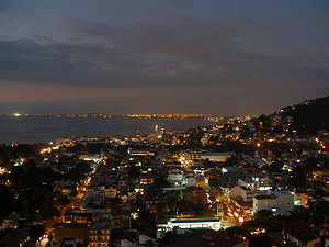 Puerto Vallarta - Puerto Vallarta at night.