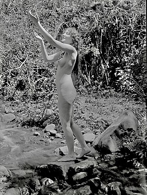 Purity (film) - Munson posing nude in a damaged still from the film.