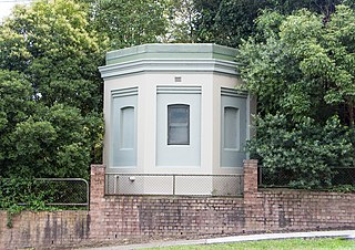 Heritage listed water reservoirs in Pymble, NSW, Australia