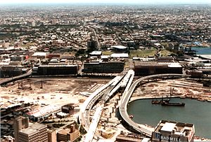 Western Distributor (Sydney) - Construction of the Western Distributor during the 1980s.