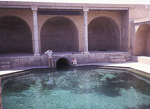 """Traditional water sources of Persian antiquity - This Qanat surfacing in Fin is from a spring thought to be several thousand years in running, called The Spring of Solomon (""""Cheshmeh-ye Soleiman""""). It is thought to have been feeding the Sialk area since antiquity."""